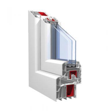 Окно с шестикамерным оконным профилем